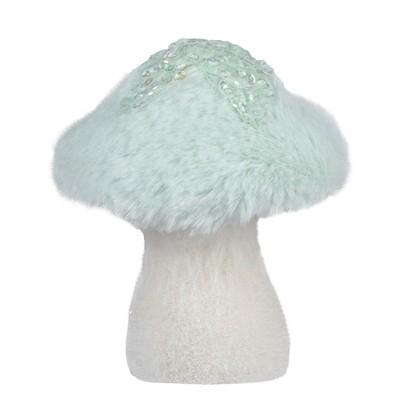 Northlight 5-Inch Light Green Tabletop Christmas Mushroom with Sequins
