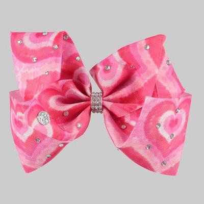 Girls' JoJo Siwa V-Day Hearts Bow Hair Clip - Pink