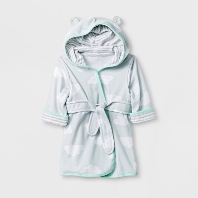 Baby Clouds Knit Terry Robe - Cloud Island™ Gray One Size