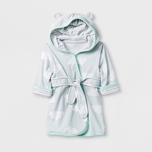 Babys' Clouds Knit Terry Robe - Cloud Island™ Gray - image 1 of 1