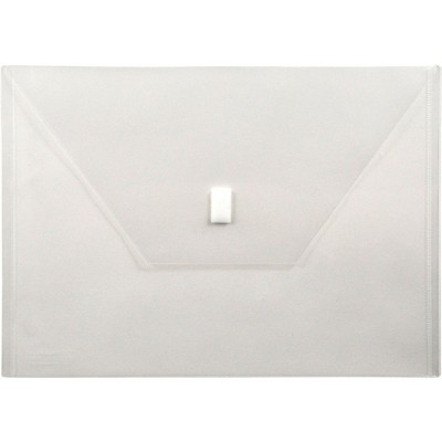 """Lion Office Products Poly Envelope Side Opening Hook/Loop 13""""x9-3/8"""" Clear 22080CR"""