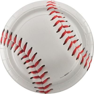 "Birthday Express Baseball 7"" Dessert Plate"