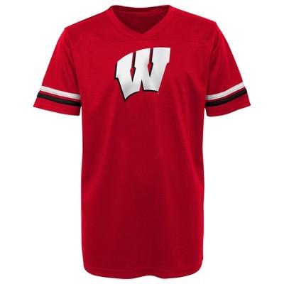 NCAA Wisconsin Badgers Boys' Short Sleeve Jersey