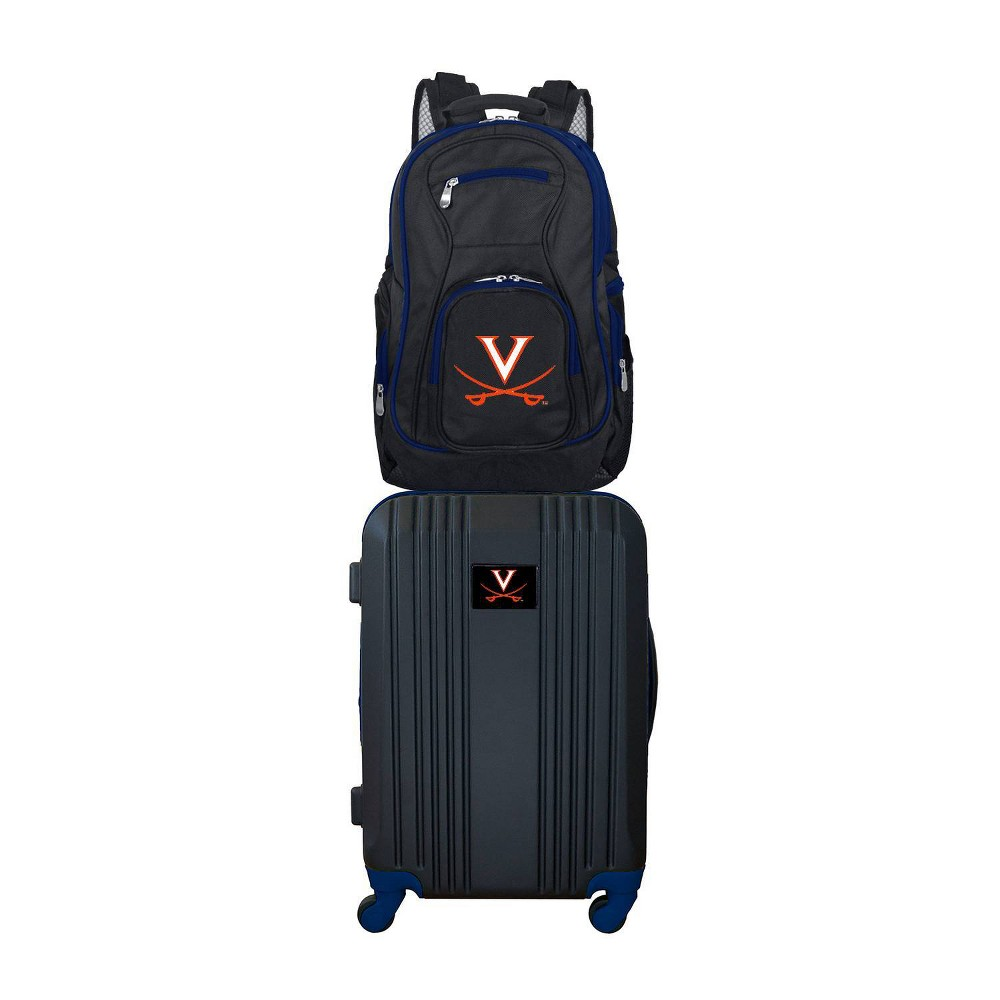 NCAA Virginia Cavaliers Premium 2pc Backpack & Carry-On Luggage Set