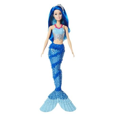 barbie dreamtopia mermaid doll blue target