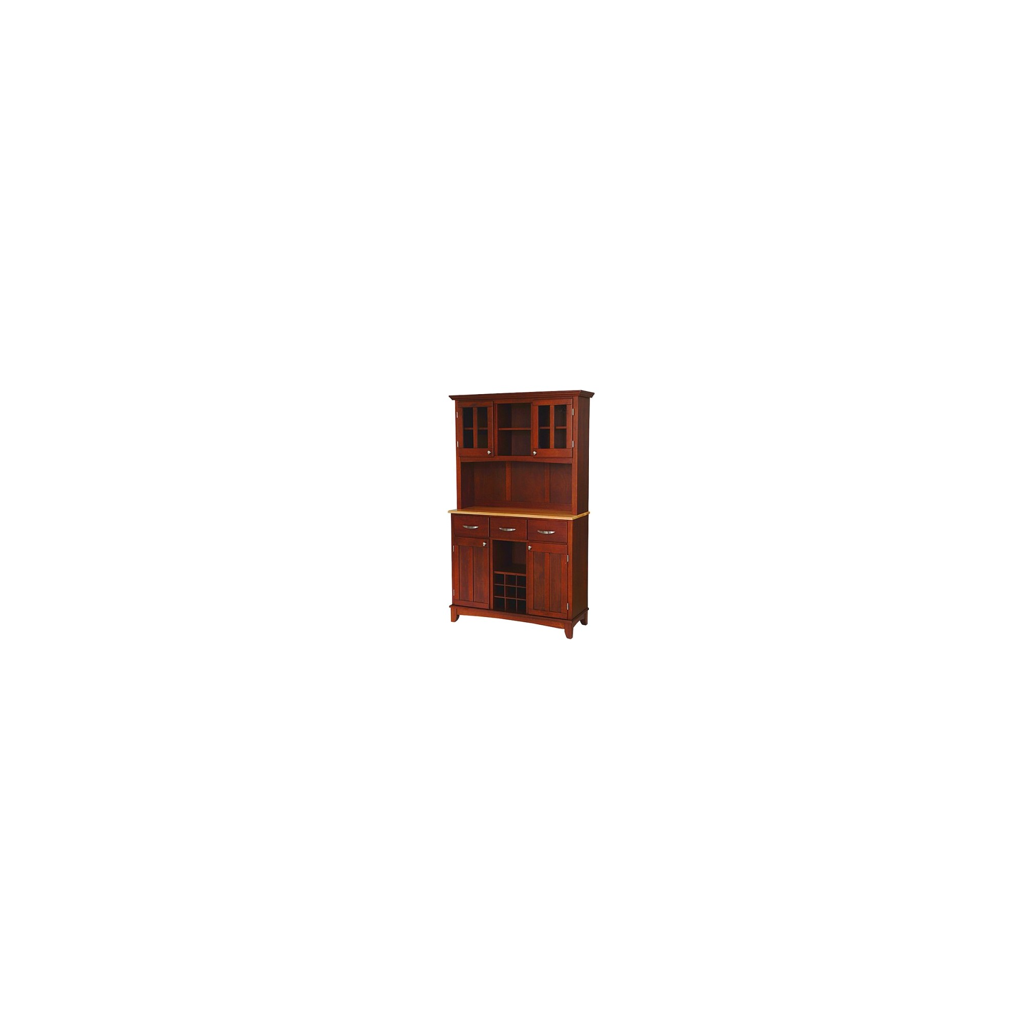 Buffet with 2 Door Hutch Wood/Cherry/Natural -Home Styles