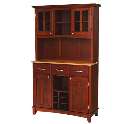 Ordinaire Buffet With 2 Door Hutch Wood/Cherry/Natural  Home Styles