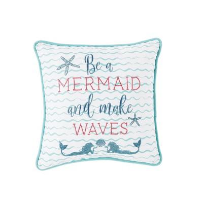 "C&F Home 10"" x 10"" Make Waves Mermaid Pillow"