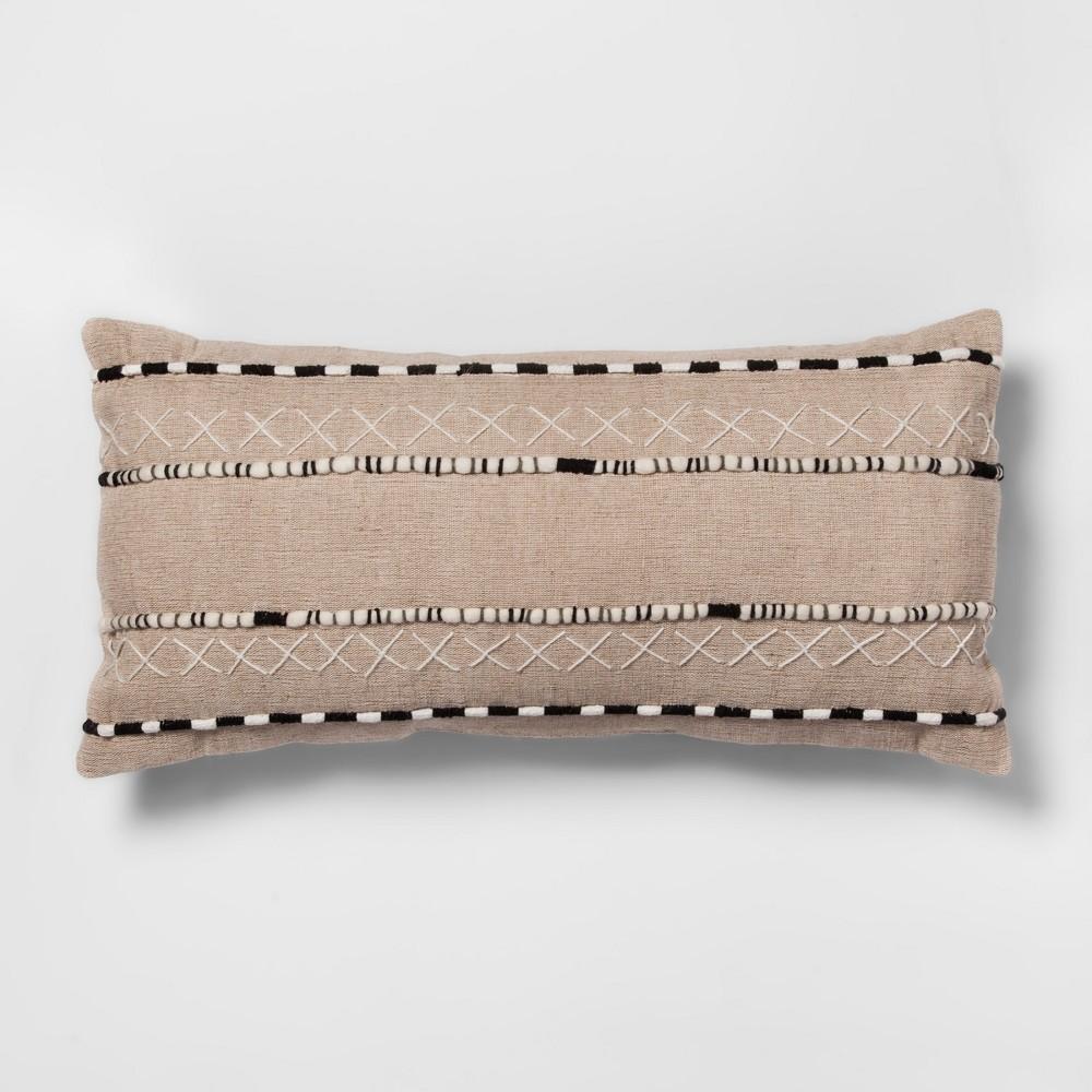 Black And Natural Lumbar Throw Pillow - Opalhouse