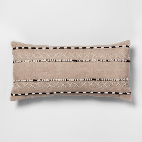 Black And Natural Lumbar Throw Pillow Opalhouse