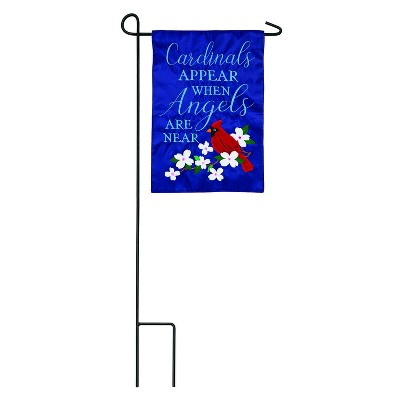 Evergreen Flag Cardinals Appear Garden Applique Flag