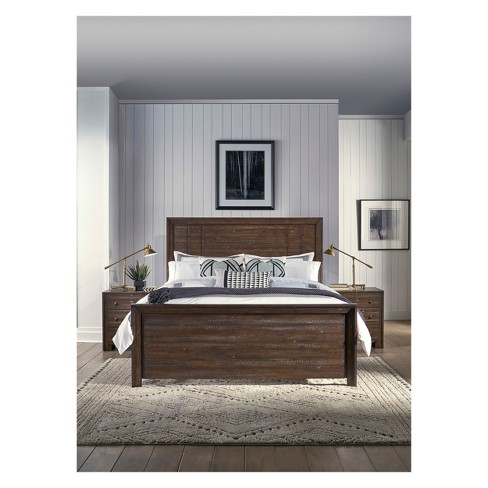 Lifestyle Solutions Queen Bed Cambridge Distressed Mahogany - image 1 of 2