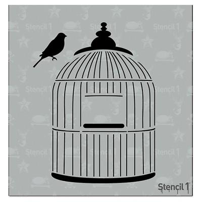"""Stencil1 Bird Cage - Stencil 5.75"""" x 6"""""""