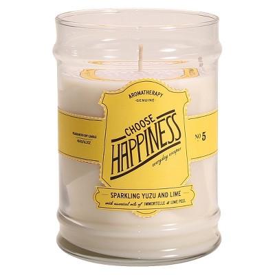 Glass Jar Candle Choose Happiness - Aromatherapy®