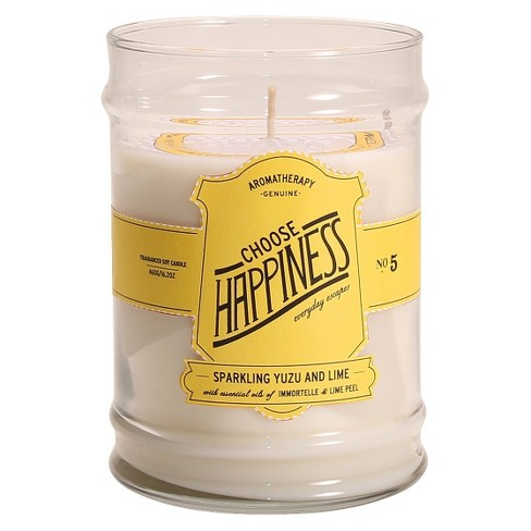 Glass Jar Candle Choose Happiness - Aromatherapy® - image 1 of 1