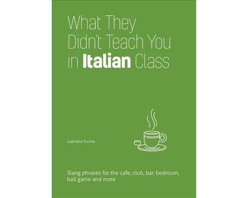 What They Didn't Teach You in Italian Class : Slang Phrases for the Cafe, Club, Bar, Bedroom, Ball Game - image 1 of 1