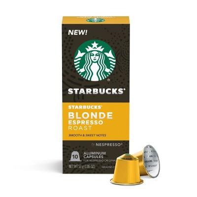 Starbucks Nespresso Blonde Espresso Roast Capsules - 10ct/2.01oz