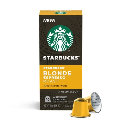 Starbucks Nespresso Blonde Espresso Roast Capsules - 10ct/2.01oz - image 1 of 4