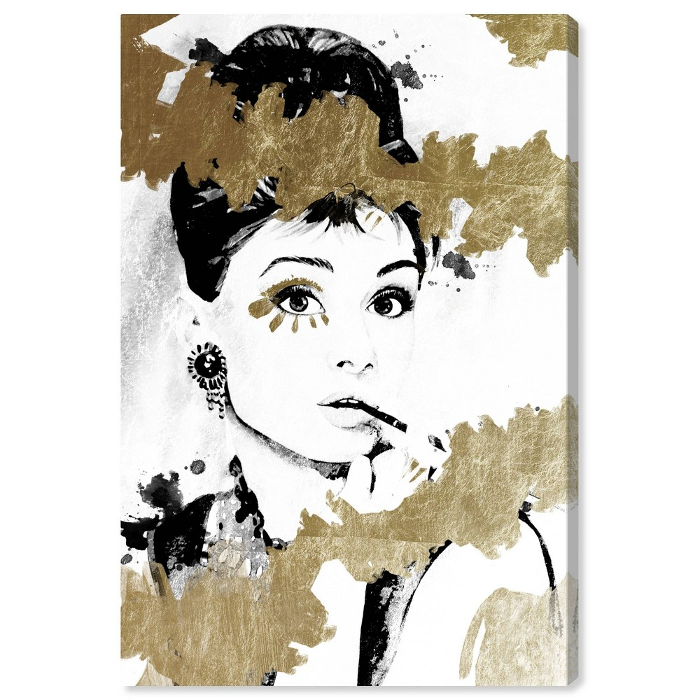 Image of 10'' x 15'' Always the One Unframed Wall Canvas Gold/White - Oliver Gal