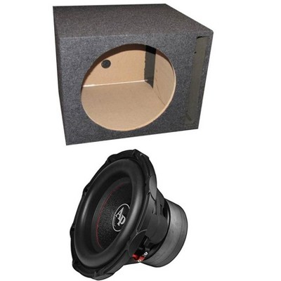 "Audiopipe TXX-BD3-12 12"" 1800W Car Audio Subwoofer + Single Vented Sub Box"
