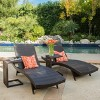 Salem 4 Piece Wicker Lounges with C-shaped Wicker Tables - Brown - Christopher Knight Home - image 2 of 4