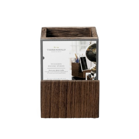 Wooden Pencil Cup with Phone Stand - Threshold™ - image 1 of 4