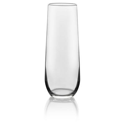 Libbey Stemless Flute Glass Set of 12 - 8.5 oz