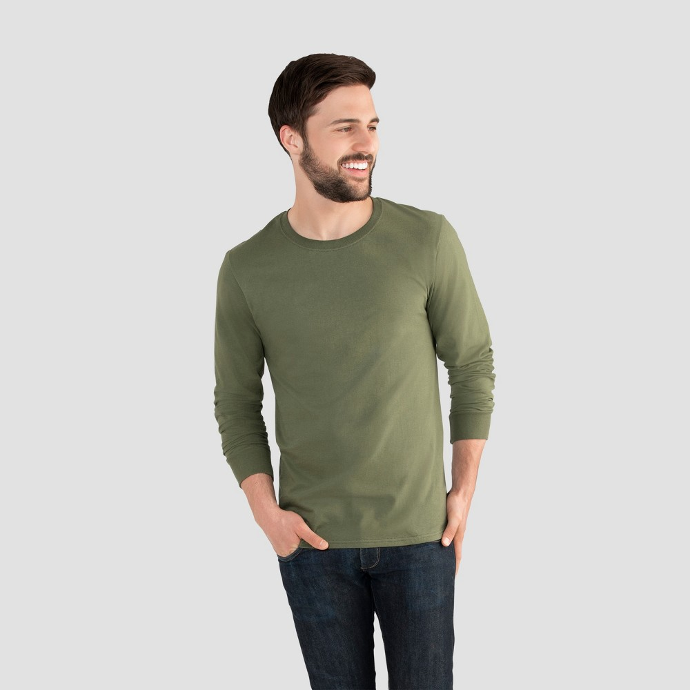 Fruit of the Loom Men's Long Sleeve T-Shirt - Dillweed XL