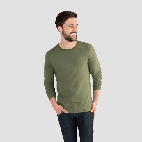 b7647a70e7510 Fruit Of The Loom Men s Long Sleeve T-Shirt - Dillweed 2XL   Target