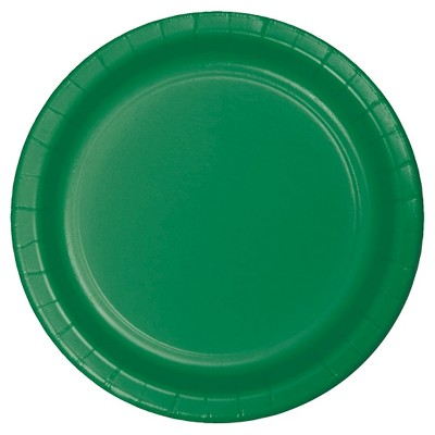 "Emerald Green 9"" Paper Plates - 24ct"