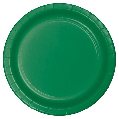 """Emerald Green 9"""" Paper Plates - 24ct - image 1 of 2"""