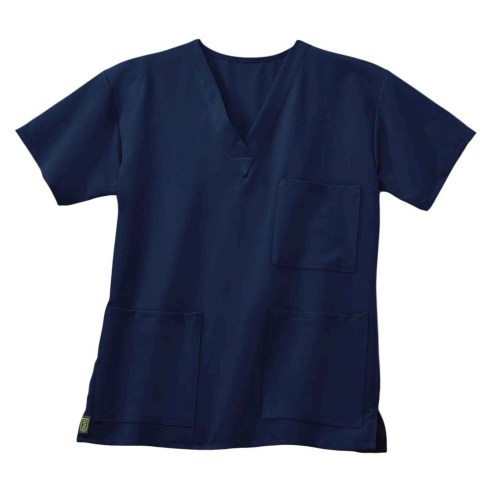 Madison Ave Scrub Top Navy Blue X-small
