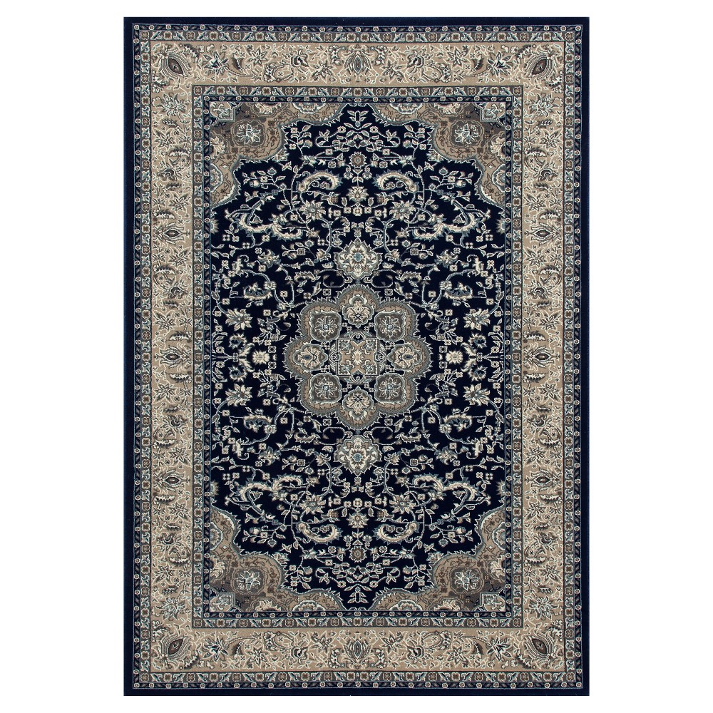 Navy Blue Classic Woven Area Rug - (7'X10') - Art Carpet