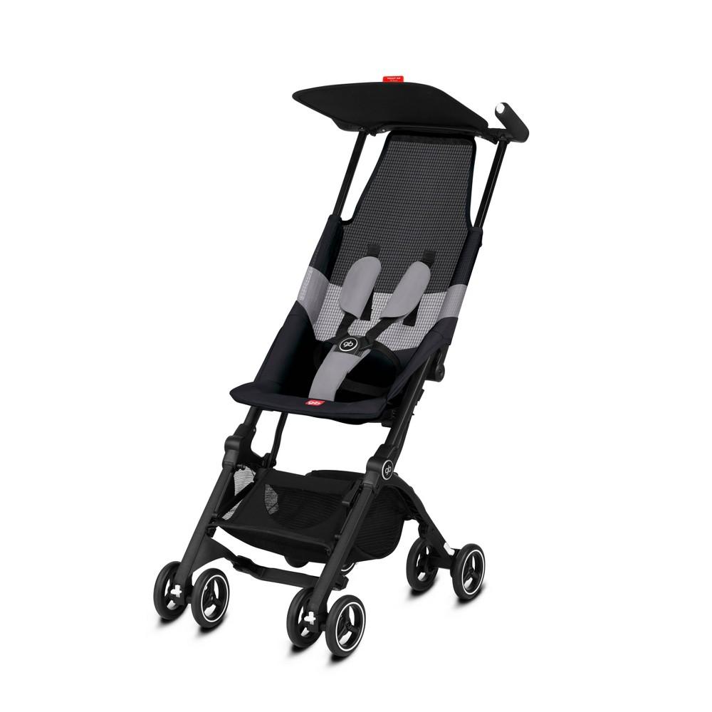 Image of Goodbaby Pockit + All Terrain Velvet Stroller - Black, Velvet Black