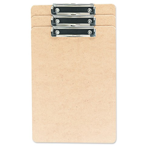 "Universal® Hardboard Clipboard, 1/2"" Capacity, Holds 8 1/2w x 14h, Brown, 3pk - image 1 of 1"