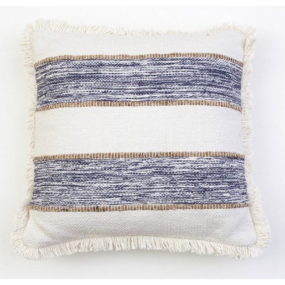 Oversize Bodhi Jute Rope Fringe Trim Throw Pillow - Décor Therapy