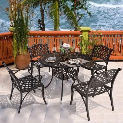 5pc Cast Aluminum Dining Set - Nuu Garden
