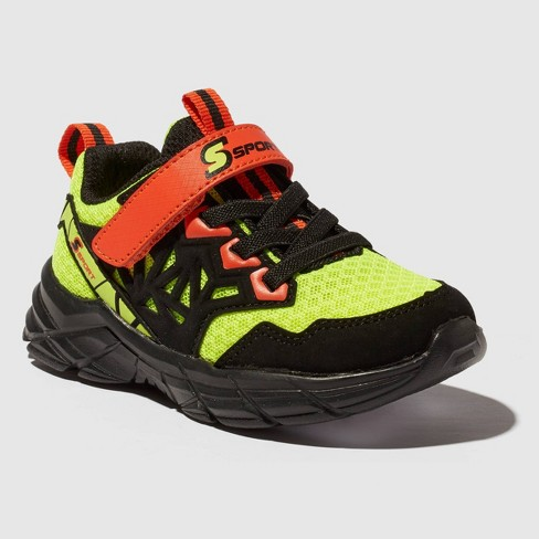 Toddler Boys' S Sport by Skechers Flinn Light Up Athletic Shoes GreenBlack