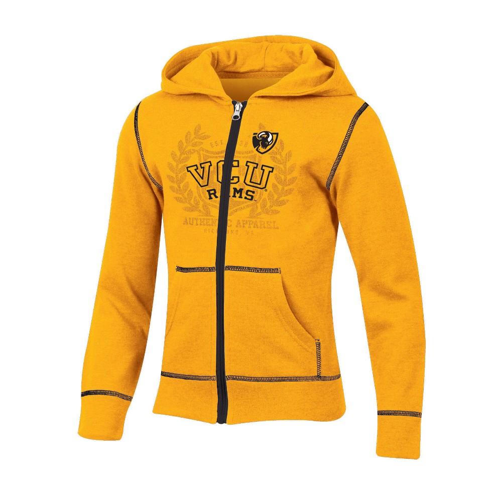 Vcu Rams Girls' Long Sleeve Full Zip Hoodie - XL, Multicolored