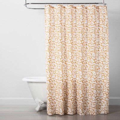 Leopard Shower Curtain Yellow/White - Opalhouse™