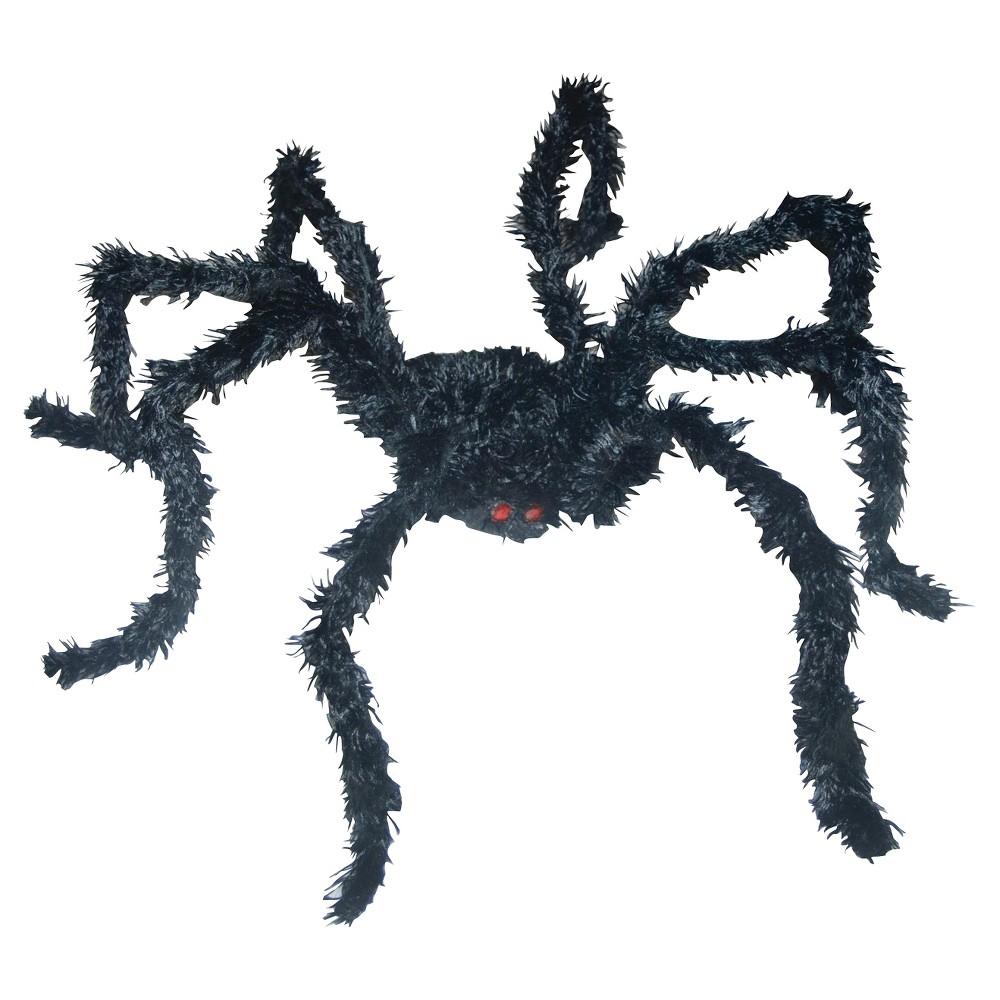 Halloween Light Up Spider Long Hair, Black