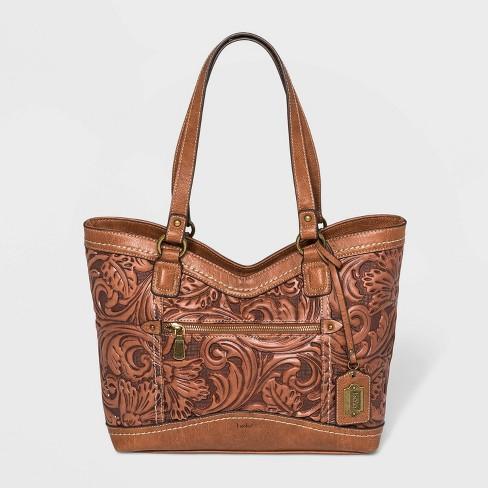 Bolo Garland Tote Handbag - Brown - image 1 of 4
