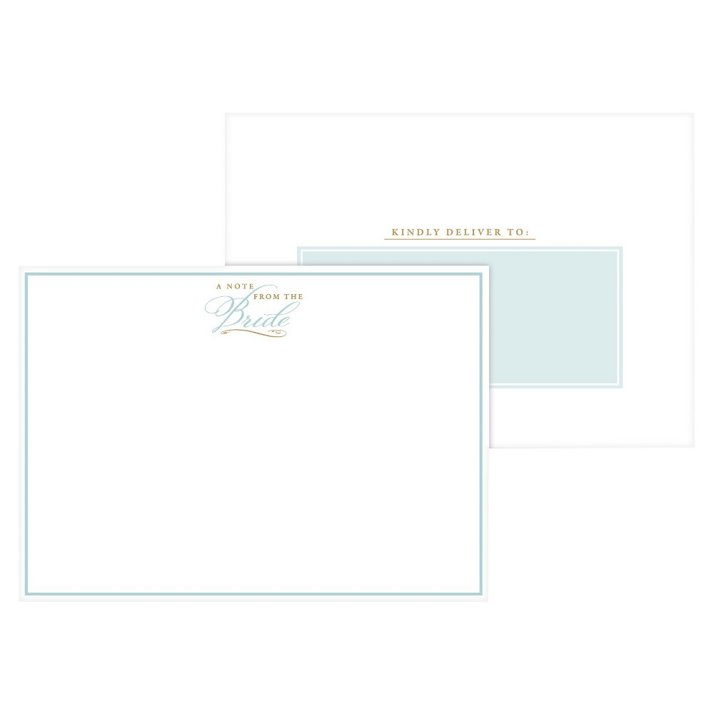 Image of 2ct A Note From the Bride Tiffany Formal Post Cards, Blue