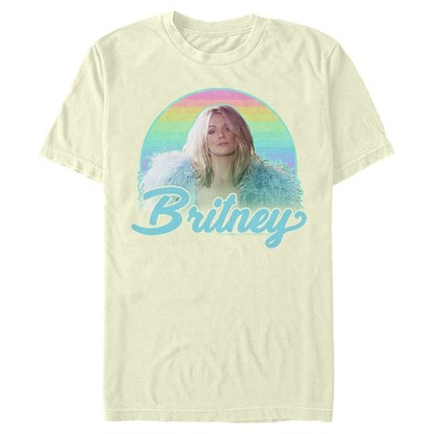 Men's Britney Spears Rainbow Star T-Shirt