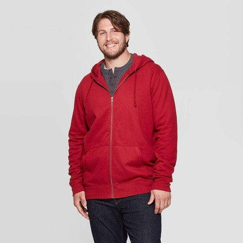 Men's Big & Tall Standard Fit Ultra-Soft Full Zip Fleece Hoodie - Goodfellow & Co™ - image 1 of 3