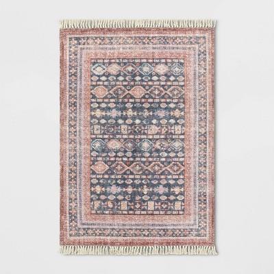 Alexandra Floral Printed Border Persian Rug Blush - Opalhouse™