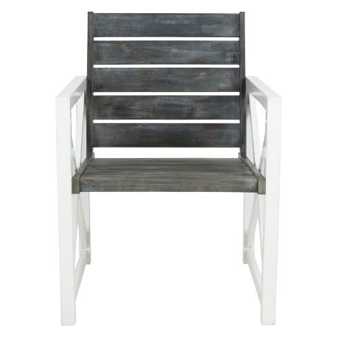 Irina Armchair - 2pk White Frame With Ash Gray Seat  - Safavieh - image 1 of 4