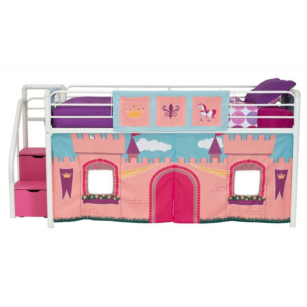 Image of Princess Castle Curtain Set For Loft Bed Pink - Dorel Home Products