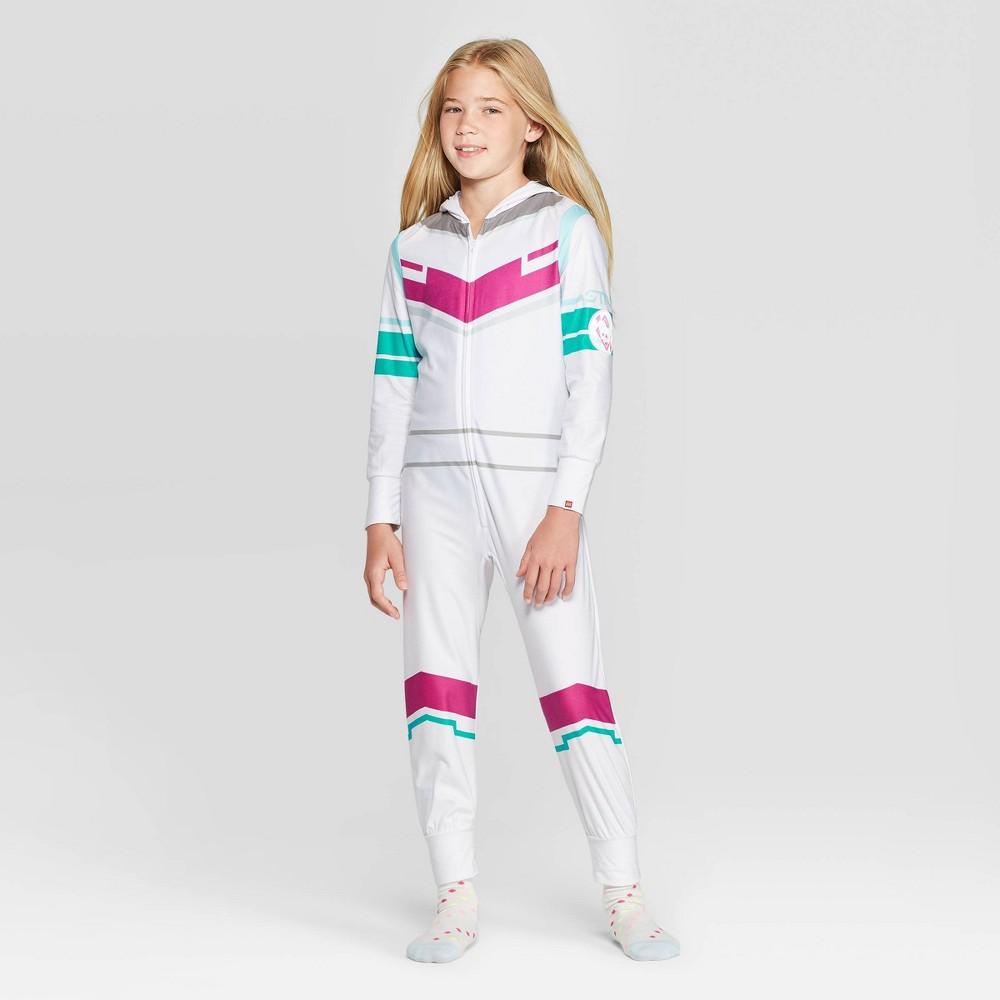 Image of Girls' The LEGO Movie 2 Sweet Mayhem Union Suit - White 10-12, Girl's