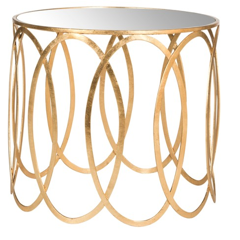 Cyrah Accent Table - Gold / Mirror - Safavieh® - image 1 of 3